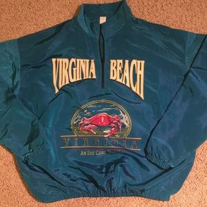 Other - Vintage Virginia Beach surf style pullover jacket